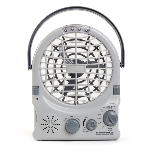 Rechargeable Fan with Radio