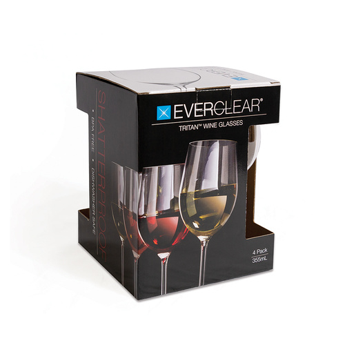 Everclear Tritan 355ml Wine Glass - 4 Pack